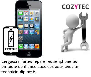 Reparation batterie iPhone 5S Cergy