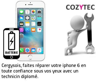 Reparation batterie iPhone 6 Cergy